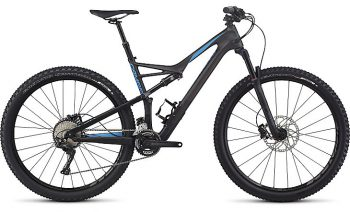 SPECIALIZED CAMBER COMP CARBON 2X - Satin Carbon / Neon Blue