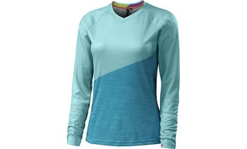 SPECIALIZED ANDORRA COMP LONG SLEEVE JERSEY - Light Turquoise/Turquoise