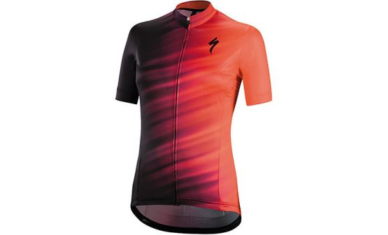 Specialized SL Expert SS Women's Jersey - Acid Lava/Black Faze