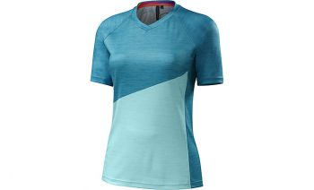 SPECIALIZED WOMEN'S ANDORRA COMP JERSEY - Turquoise/Light Turquoise