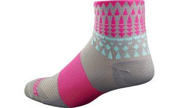 SPECIALIZED WOMEN'S RBX MID SOCKS - Light Grey/Neon Pink
