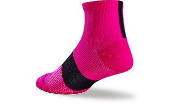 SPECIALIZED WOMEN'S SL MID SOCKS - Neon Pink/Black