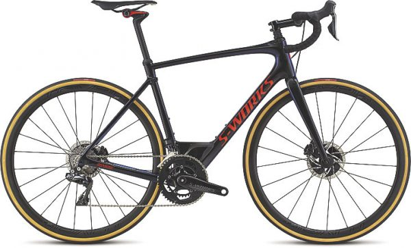Specialized S-Works Roubaix Dura-Ace Di2 2018 - Gloss Tarmac Black/Chameleon Edge Fade/Rocket Red Clean