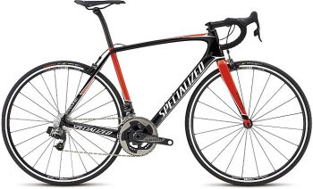 Specialized Tarmac Expert eTap 2017 - Gloss Tarmac Black/Rocket Red/Metallic White