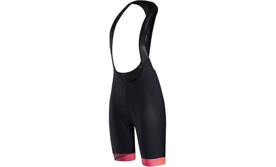 Specialized SL Expert Women's Bib Shorts - Black/Acid Lava/Black Faze