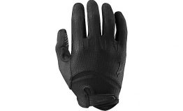 BG Gel Long Finger Gloves Black