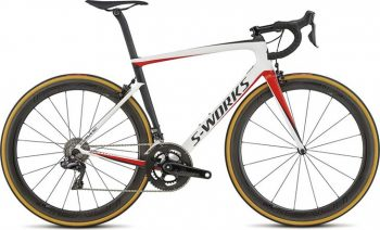 Specialized S-Works Tarmac 2018 - Light White/Rocket Red/Satin Black