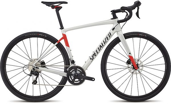 Specialized Men's Diverge Comp 2018 - Gloss Dirty White/Rocket Red/Tarmac Black