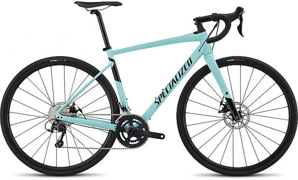 Specialized Men's Diverge Comp E5 2018 - Gloss Light Turquoise/Tarmac Black