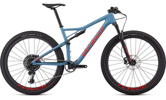 Specialized Men's Epic Expert - Gloss Storm Grey/Rocket red