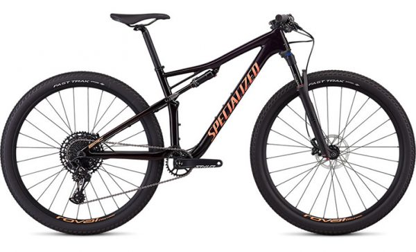 Specialized Women's Epic Comp Carbon - Gloss Satin Purple Tint/Red Tint/Acid Lava