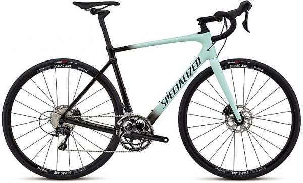 Specialized Roubaix Elite 2018 - Gloss Mint/Tarmac Black Fade/Black Reflective Clean