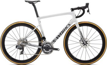 Specialized S-Works Men's Tarmac Disc SRAM eTAP - Gloss Metallic White Silver/Lite Silver Fade