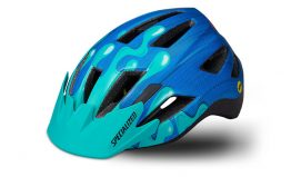 Specialized Shuffle Youth LED MIPS - Neon Blue/Acid Mint Slime
