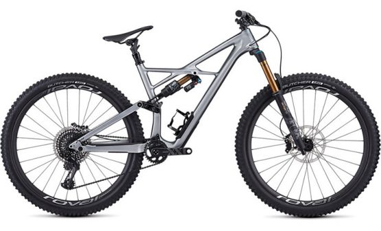 Specialized S-Works Enduro - Gloss Flake Silver Form Fade/Tarmac Black