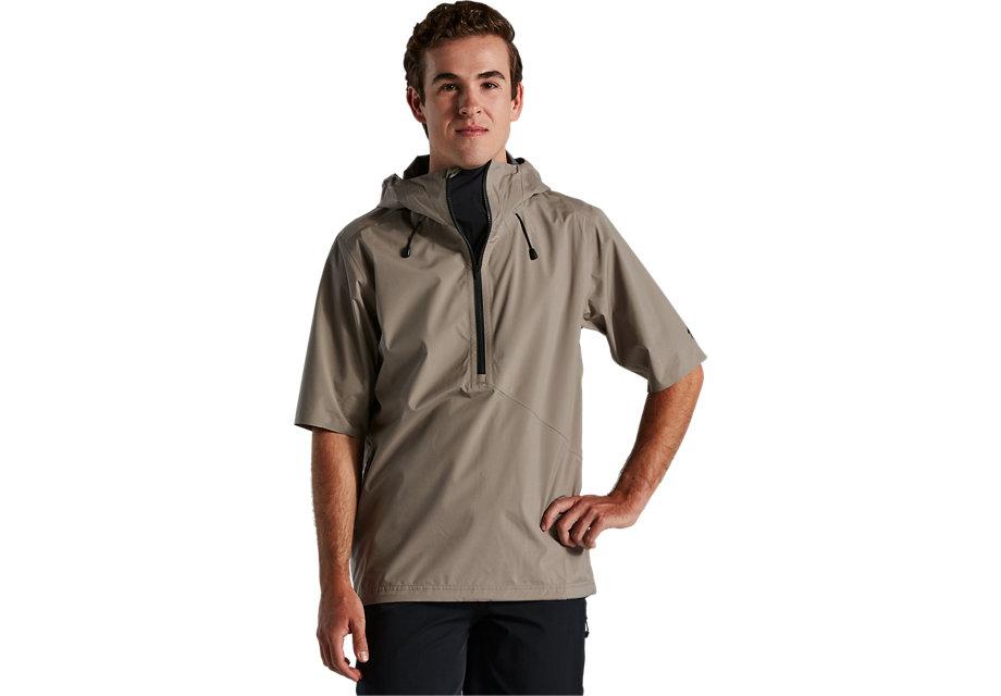 trail-series-short-sleeve-rain-anorak-taupe