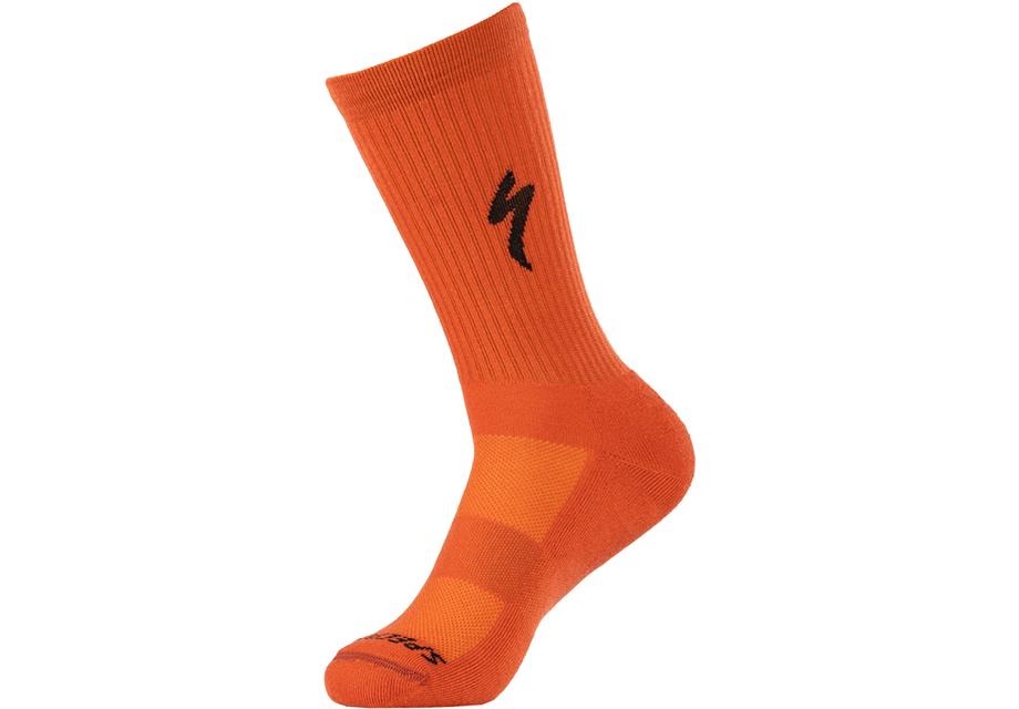 techno-mtb-tall-sock-redwood